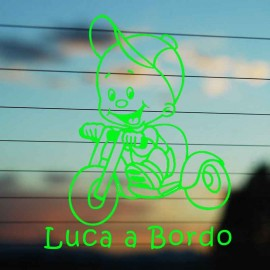 Adesivo Bimbo Bicicletta