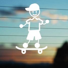 Adesivo Famiglia Papà Skate