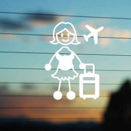 Adesivo Famiglia Mamma Viaggio