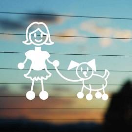 Adesivo Famiglia Mamma con Cane