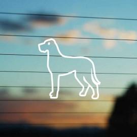 Adesivo Famiglia Cane razza Alano