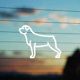 Adesivo Famiglia Cane razza Rottweiler