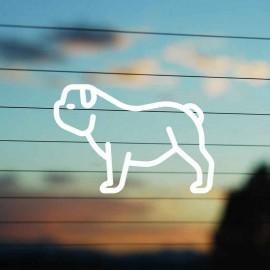 Adesivo Famiglia Cane razza Bulldog
