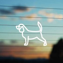 Adesivo Famiglia Cane razza Beagle