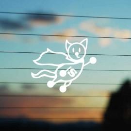 Adesivo Famiglia Gatto Supereroe