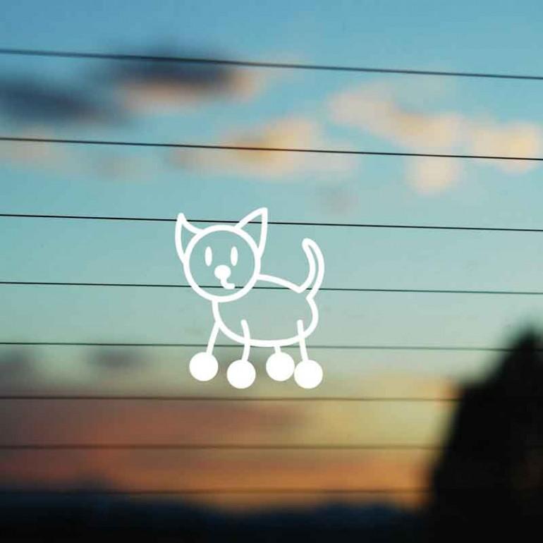 Adesivo Famiglia Gatto Cicciotto