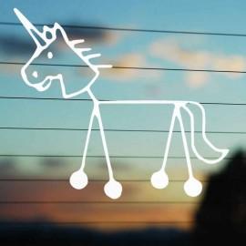 Adesivo Famiglia Unicorno
