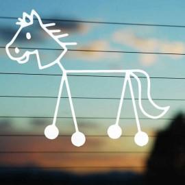 Adesivo Famiglia Cavallo