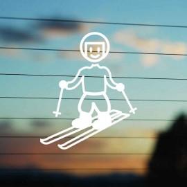 Adesivo Famiglia Bimbo Grande Sciatore