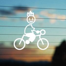 Adesivo Famiglia Bimbo Grande Ciclista