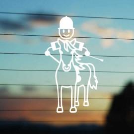 Adesivo Famiglia Bimbo Medio a Cavallo