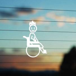 Adesivo Famiglia Bimbo Medio Disabile