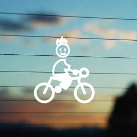 Adesivo Famiglia Bimbo Medio Ciclista