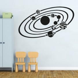 Adesivo Murale Tabella Colori Orbite Pianeti