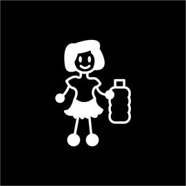 Adesivi Raccolta Differenziata Donna con la Plastica