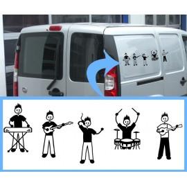 Adesivi Famiglia personalizzati Chitarrista