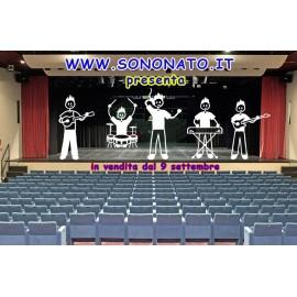SonoNato Adesivo Famiglia gruppo musicale Chitarrista