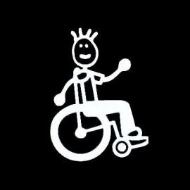 Adesivo Famiglia Babbo sedia a rotelle
