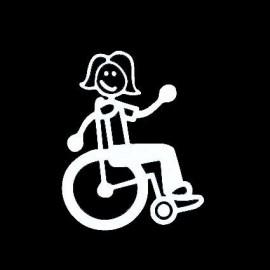 Adesivo Famiglia Mamma sedia a rotelle