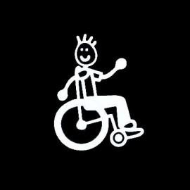 Adesivo Famiglia Bambino sedia a rotelle