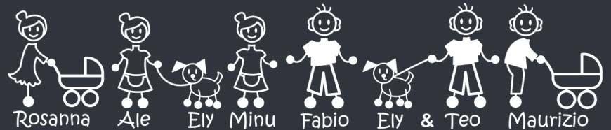 Adesivi Famiglia Nonno: scegli il personaggio che ti piace di più.Crea