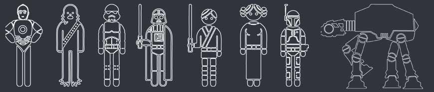 Adesivi Famiglia Guerre Stellari: scegli il personaggio personalizzato